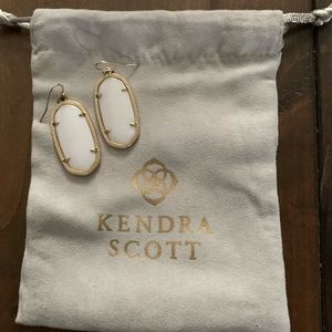 Kendra Scott White Elle Earrings